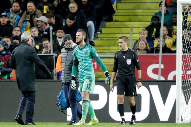 David de Gea is a serious doubt for Manchester United's Premier League clash with Liverpool at Old Trafford