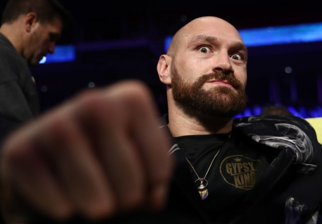 PHILADELPHIA, UNITED STATES - OCTOBER 18, 2019: British professional boxer Tyson Fury before a light heavyweight world title unification boxing fight between IBF belt-holder Artur Beterbiev of Russia and WBC titlist Oleksandr Gvozdyk of Ukraine at the Liacouras Center in Philadelphia, Pennsylvania, United States. Valery Sharifulin/TASS (Photo by Valery SharifulinTASS via Getty Images)