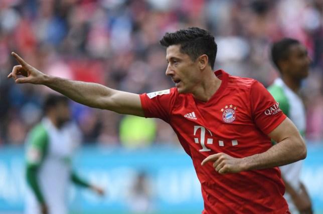 Robert Lewandowski has matched Pierre-Emerick Aubameyang's Bundesliga record