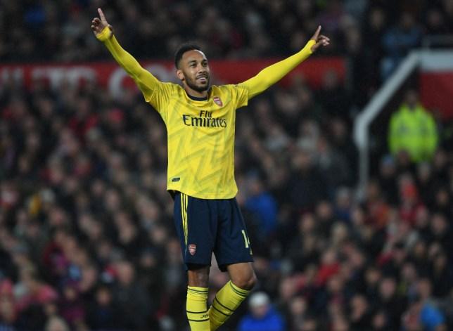 Arsenal star Pierre-Emerick Aubameyang scored his seventh goal of the season against Manchester United