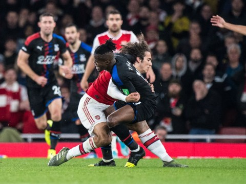 Wilfried Zaha digs out Arsenal star Matteo Guendouzi after clash during Crystal Palace draw