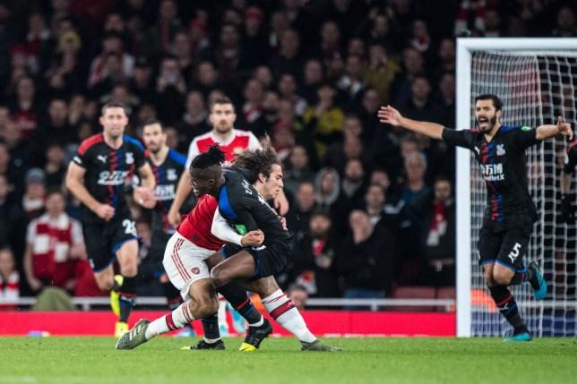 Crystal Palace ace Wilfried Zaha clashed with Arsenal midfielder Matteo Guendouzi