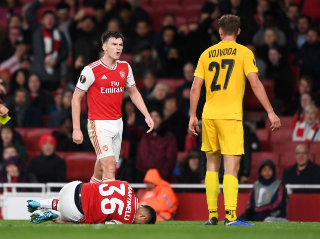 Kieran Tierney played his first full match for Arsenal against Standard Liege