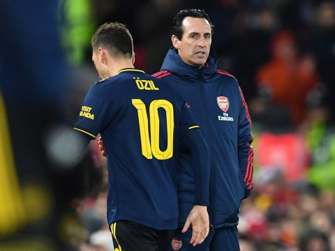 Unai Emery explains why he subbed off Mesut Ozil during Arsenal's defeat to Liverpool