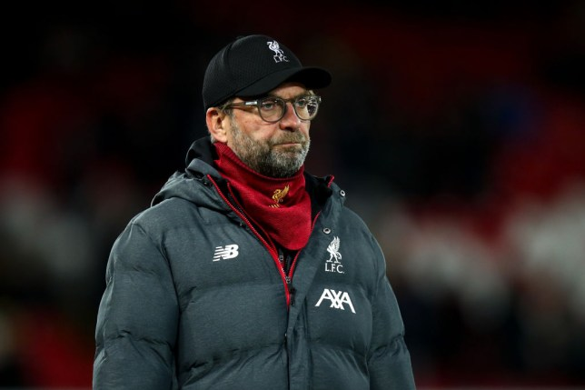 Jurgen Klopp looks on during Liverpool's Carabao Cup win over Arsenal