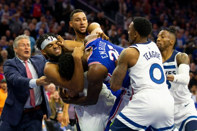 Joel Embiid continues fight with 'p***y' Karl-Anthony Towns on Instagram