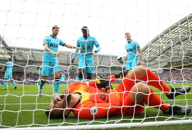 Hugo Lloris suffered a sickening injury during Tottenham's defeat to Brighton
