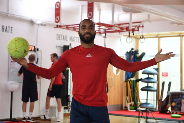 Arsenal striker Alexandre Lacazette is closing in on a return from injury