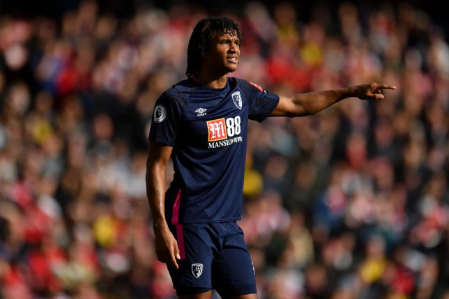 LONDON, ENGLAND - OCTOBER 06: Nathan Ake of Bournemouth reacts during the Premier League match between Arsenal FC and AFC Bournemouth at Emirates Stadium on October 06, 2019 in London, United Kingdom. (Photo by Justin Setterfield/Getty Images)