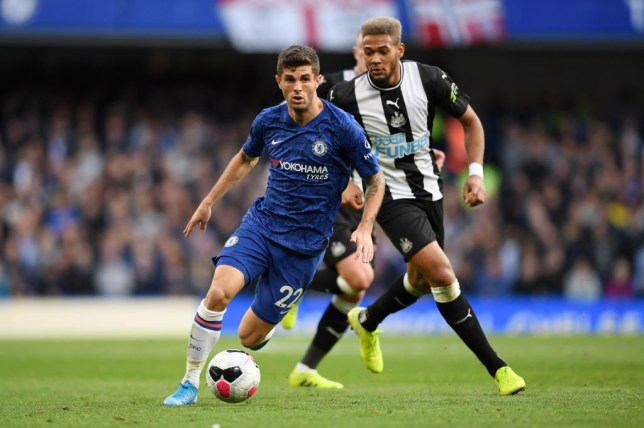 Christian Pulisic impressed as a second half substitute during Chelsea's win over Newcastle