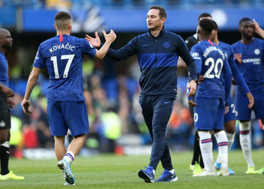 Lampard said Mateo Kovacic was 'outstanding' in the Premier League clash