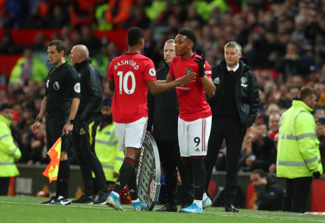 Ole Gunnar Solskjaer brought Anthony Martial on in the 84th minute of Manchester United's Premier League draw with Liverpool
