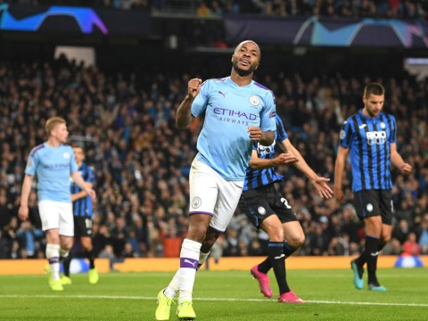 Raheem Sterling hat-trick helps Man City destroy Atalanta 5-1 as Phil Foden sees red