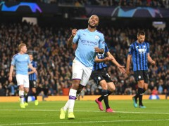 Raheem Sterling hat-trick helps Man City destroy Atalanta as Phil Foden sees red