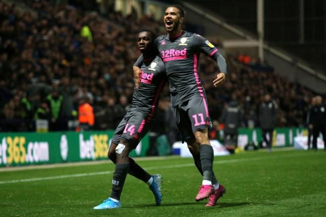 Eddie Nketiah scored a crucial equaliser for Leeds against Preston last night