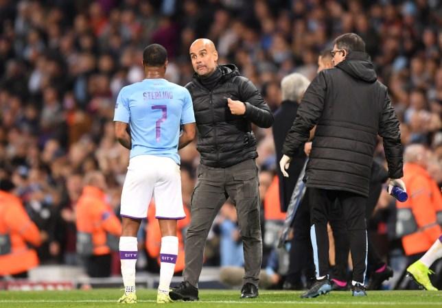Raheem Sterling and Pep Guardiola