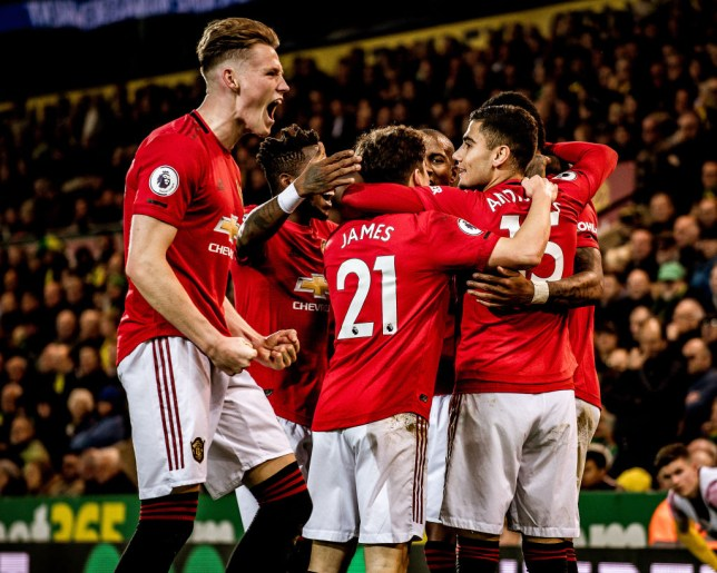 Scott McTominay put Manchester United ahead against Norwich