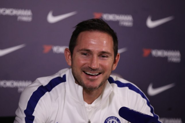 Frank Lampard in good spirits ahead of Chelsea's game against Manchester United