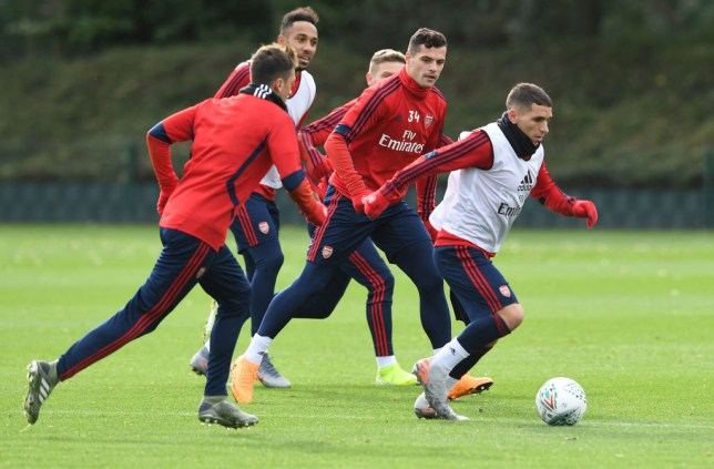Granit Xhaka trained as normal with his Arsenal team-mates on Tuesday