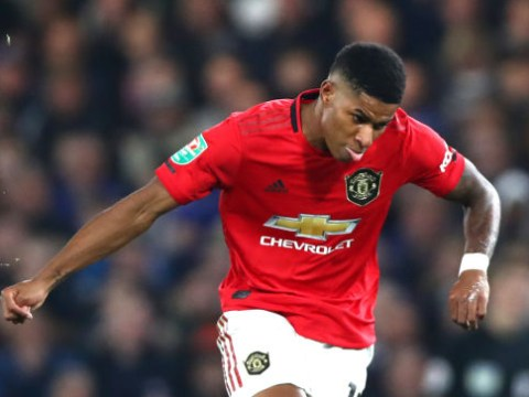 Anthony Martial's stunned reaction to Marcus Rashford's wonder-goal for Manchester United against Chelsea