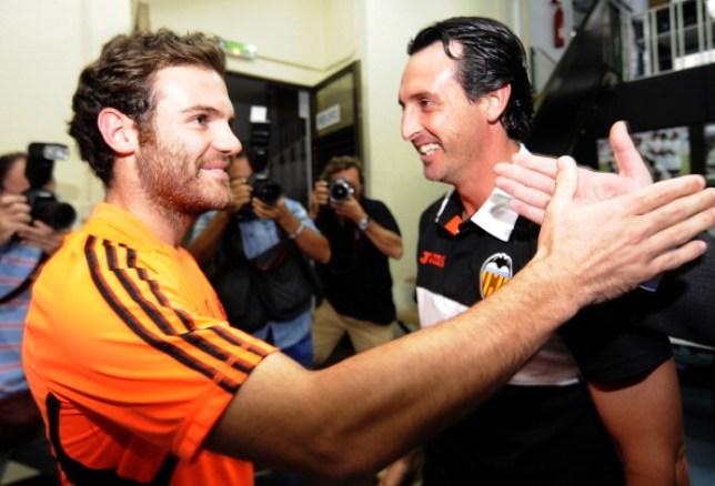 Unai Emery managed Juan Mata for three years at Valencia