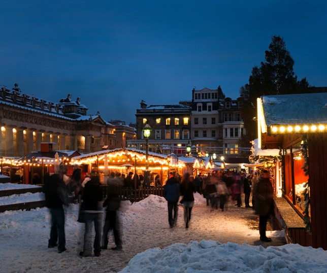 Christmas market in Edinburgh, Scotland