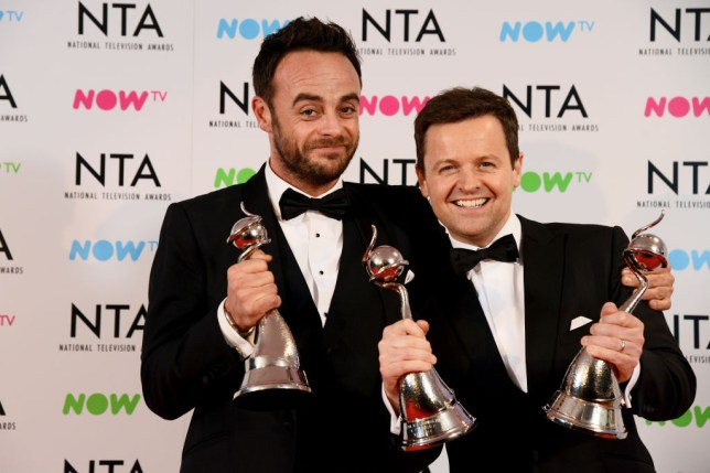 Ant and Dec at the National TV Awards