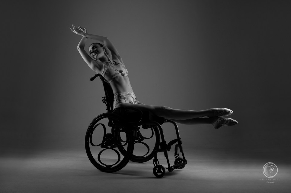 Kate dancing in her wheelchair