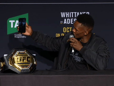 UFC champion Israel Adesanya facetimes 'tipsy' cousin in middle of press conference