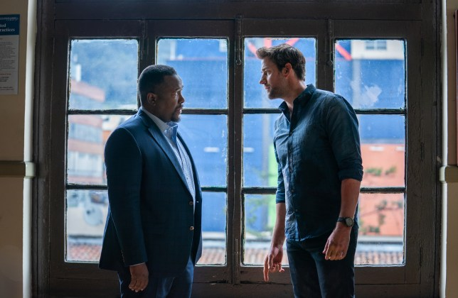 John Krasinski and Wendall Pierce as Jack Ryan and James Greeer in Jack Ryan season 2