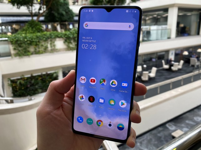 The OnePlus 7T has a 6.55-inch screen with a 90Hz refresh rate (Metro)