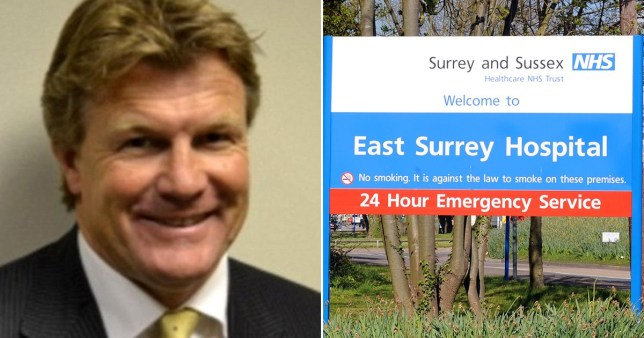 DR Paul Miller and picture of East Surrey Hospital