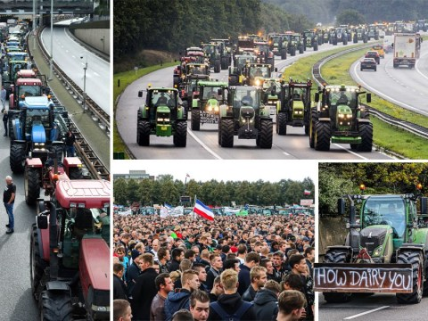 Massive tractor protest leads to 700 miles of traffic jams