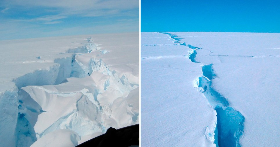 It broke away from the third largest ice shelf in Antarctica
