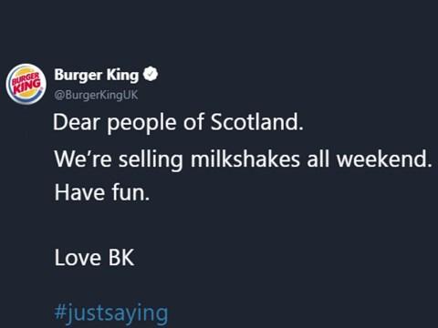 Burger King milkshake advert after Nigel Farage was attacked with one is branded irresponsible
