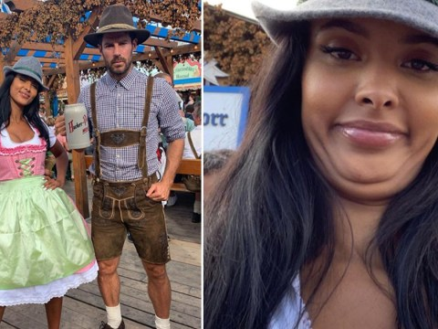 Things get messy in Munich as Maya Jama does Oktoberfest with Jamie Redknapp and Freddie Flintoff