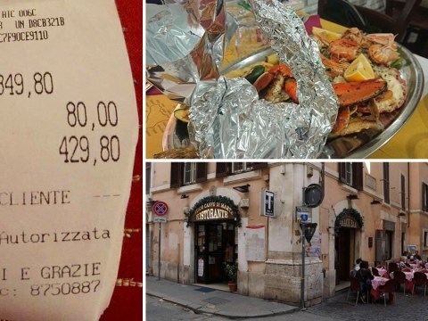 Tourists charged £400 for plate of fish, pasta and some water in Rome
