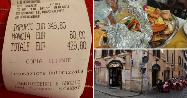 Rome restaurant faces backlash after charging Japanese tourists ?430 for fish, spaghetti and water