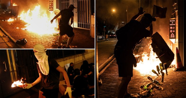 Rioting in Hong Kong after police shot pro-democracy protester Tsang Chi-kin