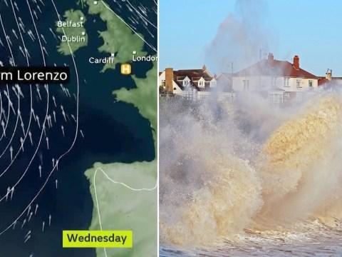 Where ex-Hurricane Lorenzo will hit UK as Met Office issues weather warnings