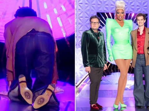 Drag Race UK reveals Andrew Garfield's questionable catwalk in behind-the-scenes clip