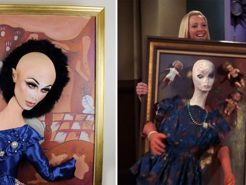 RuPaul's Drag Race UK star dressed up as Phoebe's messed-up Gladys painting from Friends and it's genius