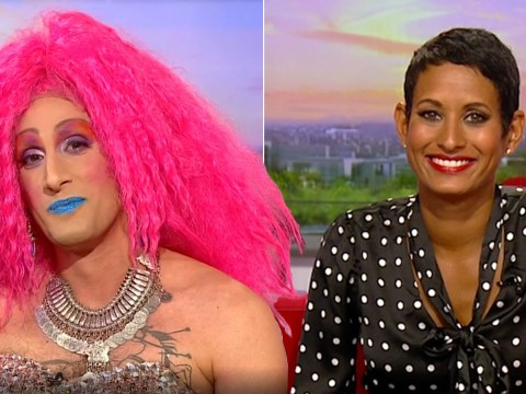 Drag Queen thanks Naga Munchetty on BBC Breakfast for standing up to racism as she returns to work after slamming Donald Trump