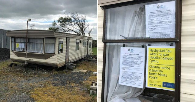 Seaside caravan exposed as 'secret den for prostitution and human trafficking'