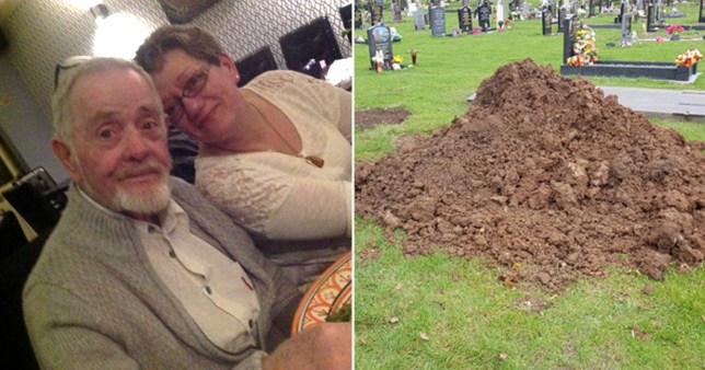 Sharon Doherty, 56, was taking fresh flowers to Harry Doherty's grave when she noticed