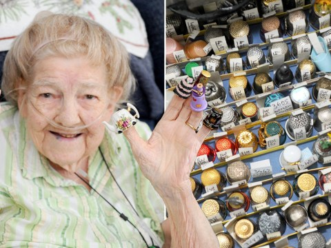 Gladys wants thumbs up from Guinness World Records for her 27,000 thimbles