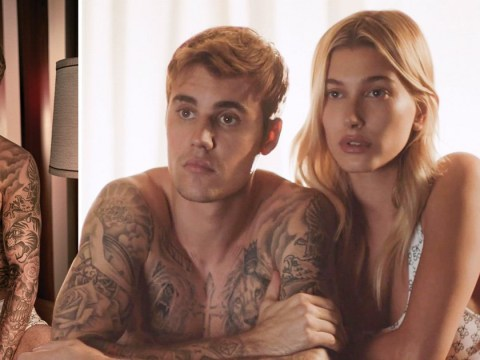 Justin and Hailey Bieber prove they're the hottest couple with a steamy kiss for Calvin Klein campaign