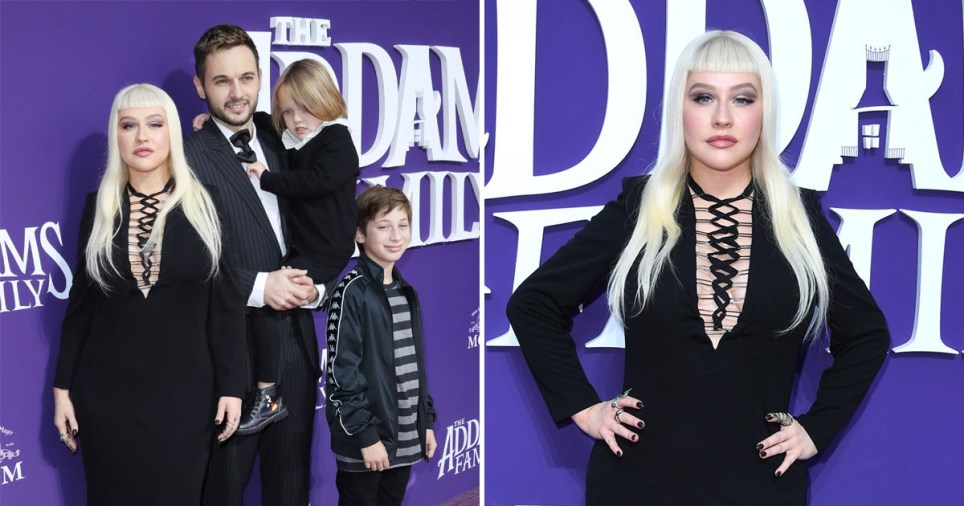 Christina Aguilera and her family