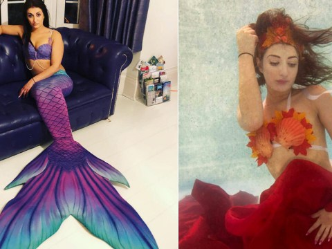 Woman quits job as funeral director to become a professional mermaid earning £100 an hour