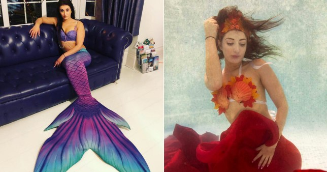 Mermaid woman comp